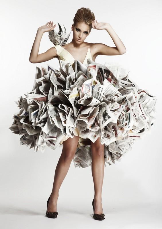 Fashion Art 201 Poustouflantes Robes En Papier Glose